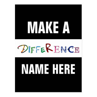 Make a Difference Motivational Quote Postcard