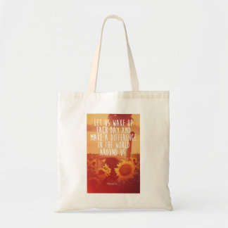 Make a Difference Motivational Tote Bag