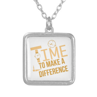 Make A Difference Square Pendant Necklace
