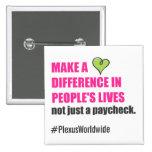 Make A Difference - Plexus Ambassador Pin Button