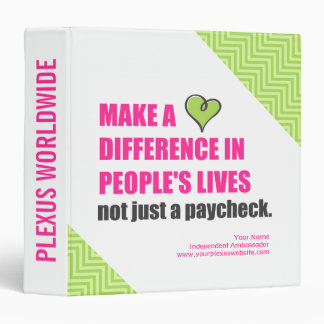 Make A Difference Plexus Worldwide 3-Ring Binder