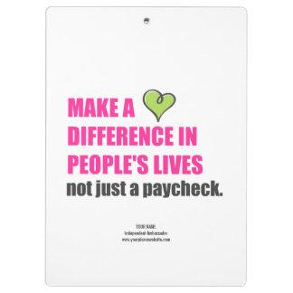 Make A Difference Plexus Worldwide Clipboard