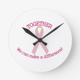 Make a Difference Round Clock