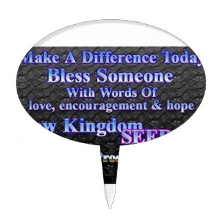 Make A Difference Today Cake Pick