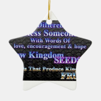 Make A Difference Today Ceramic Ornament