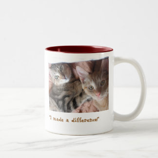 """Make a difference"" Two-Tone Coffee Mug"