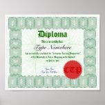 Make a Diploma Certificate Print