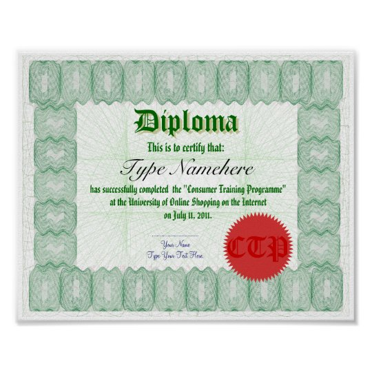 make a diploma certificate