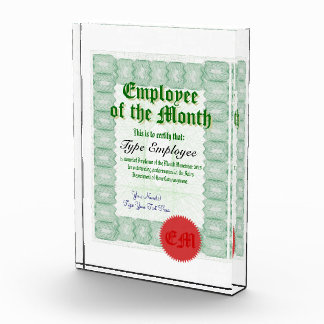 Make a Employee of the Month Certificate Award