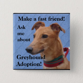 Make a fast friend! pinback button