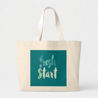 Make A Fresh Start Large Tote Bag