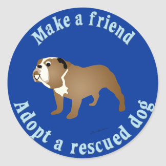 Make A Friend - Bulldog Sticker