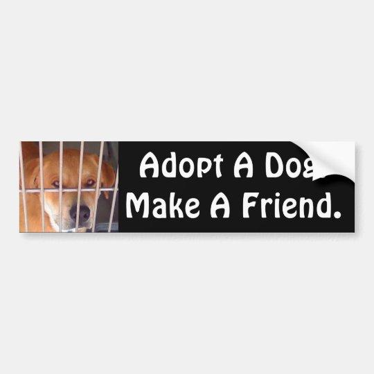 Make A Friend Bumper Sticker
