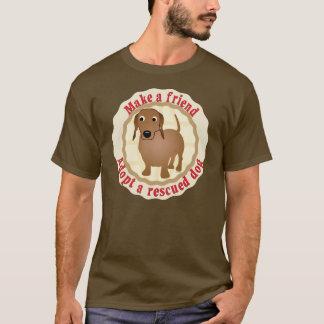Make A Friend - Dachshund T-Shirt