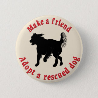 Make A Friend - Mutts Button