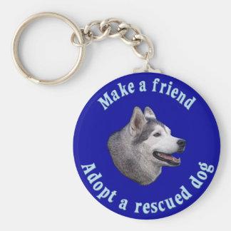 Make A Friend - Siberian Husky Keychain