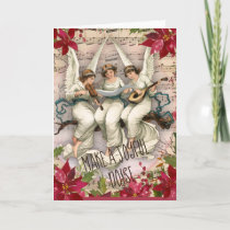 Make a Joyful Noise Angels and Instruments Holiday Card