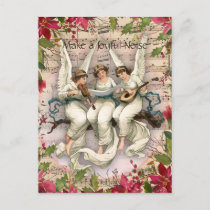 Make a Joyful Noise Angels and Instruments Holiday Postcard