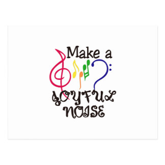 Make A Joyful Noise Postcard