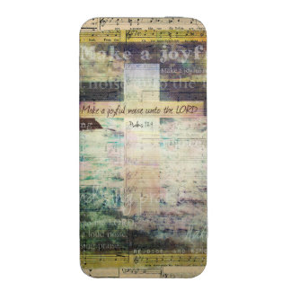 Make a joyful noise unto the LORD - Bible Verse iPhone 5 Pouch