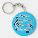 Make a Joyful Noise Unto the Lord - Psalm 100 Basic Round Button Keychain