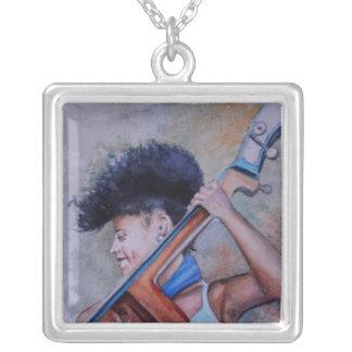 make a joyful sound square pendant necklace