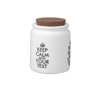 Make a Keep Calm and Your Text Candy Jar Template