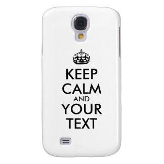 Make A Keep Calm Design Samsung Galaxy s4 Case
