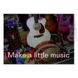 make a little music greeting card