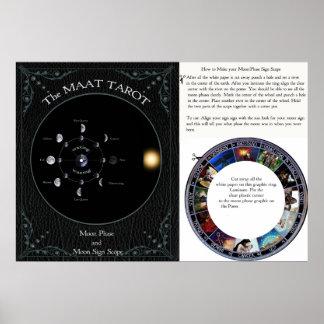Make a MAAT Tarot Moon Sign scope poster