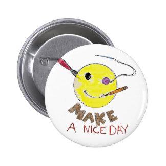 Make a Nice Day 2 Inch Round Button
