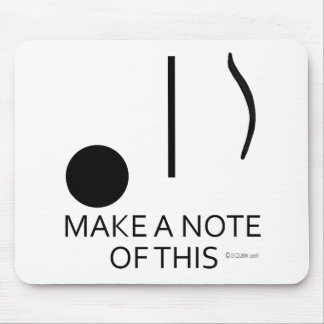 Make A Note of This Mouse Pad