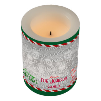 Make a personal Family Photo Merry Christmas Flameless Candle