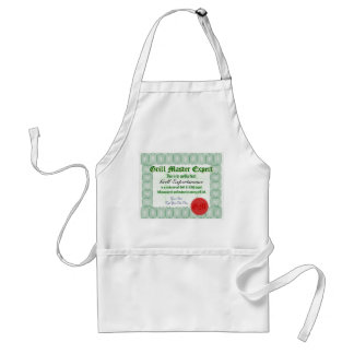 Make a personal Grill Master Certificate Adult Apron