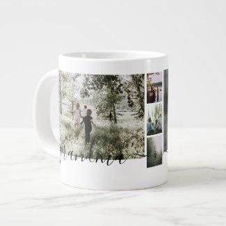 Make a Personalized family Photo keepsake Giant Coffee Mug