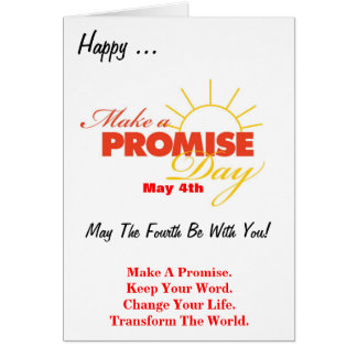 Make A Promise Day Greeting Card