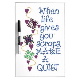 Make A Quilt Dry-Erase Board