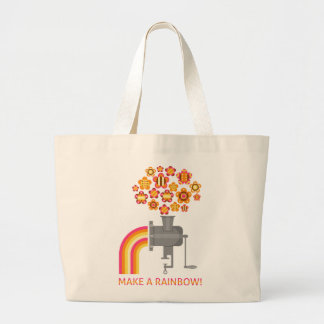 Make a rainbow! large tote bag