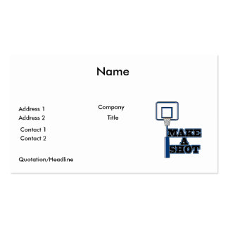 make a shot basetball net business card