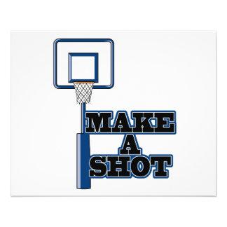 make a shot basetball net flyer