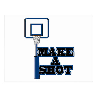 make a shot basetball net postcard
