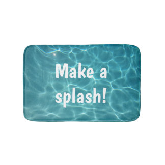 Make a splash! bath mat