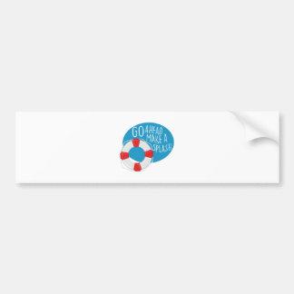 Make A Splash Bumper Sticker