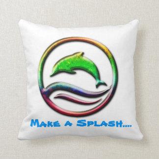 Make a splash jumping dolphin pillow design