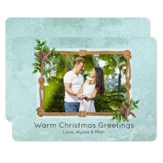 Make a Splash Nautical Rope Christmas Photo Card
