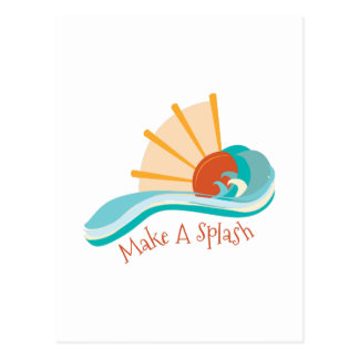 Make a Splash Postcard