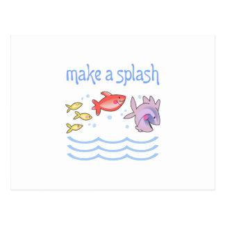 MAKE A SPLASH POSTCARD