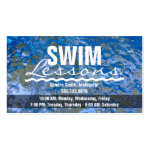 Make a Splash Sparkling Blue Water Swim Lessons Business Card