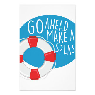 Make A Splash Stationery