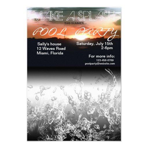 Make a Splash Summer Pool Party Invitation